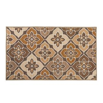 "27"" x 45"" Tan Tile Print Accent Rug"