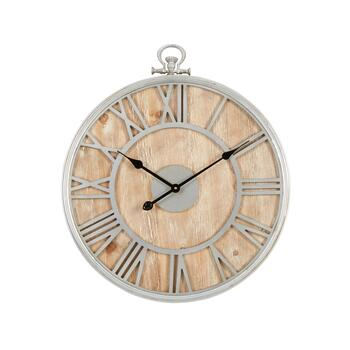"24"" Metal/Wood Pocket-Watch Wall Clock"