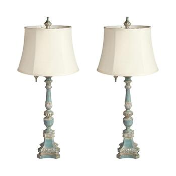 "30.75"" Tall Antique Table Lamp, Set of 2"