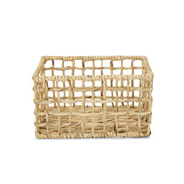 Petal and Stone™ Water Hyacinth Open Weave Rectangular Basket view 1