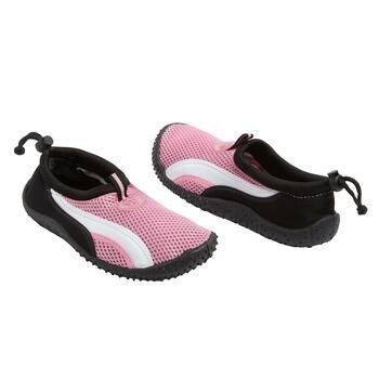 Pink/White Striped Child's Water Shoes