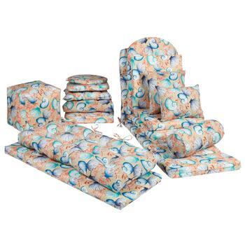 Seashells Indoor/Outdoor Chair Cushions Collection ...
