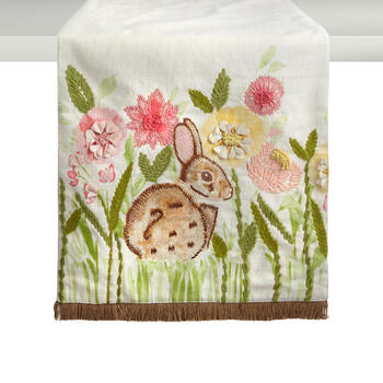 Bunny in the Garden Embellished Table Runner view 1