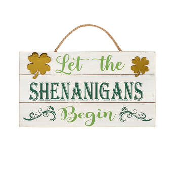 "9""x16"" ""Shenanigans"" Wall Signs, Set of 2 view 1"