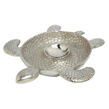 Turtle Metal Chip and Dip Serving Platter