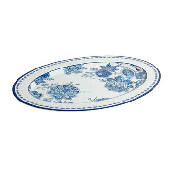 Waverly® Turquoise Floral Melamine Serving Platter view 1