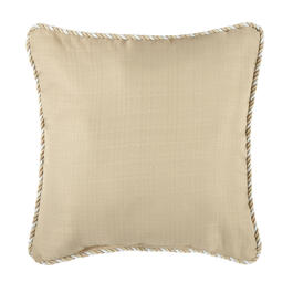 Waverly® Beige Rope Trim Indoor/Outdoor Square Throw Pillow view 1