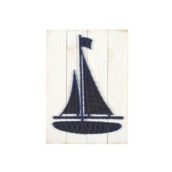 "16"" String Boat Wall Decor"