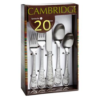 Cambridge® Seaside Satin Flatware Set, 20-Piece view 2