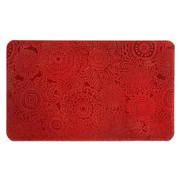 Mohawk Home Solid Red Flowers Cushioned Floor Mat