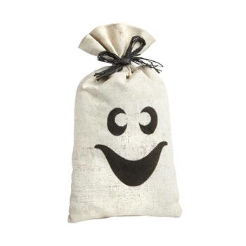 "18"" White Ghost Burlap Sack Decor"