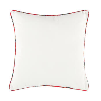 "Plaid ""Love"" Paw Print Square Throw Pillow view 2"