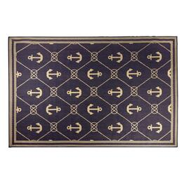 Rope Grid Anchor All-Weather Rug
