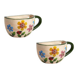 Colorful Garden Flowers Teacup Planters, Set of 2 view 1