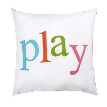 """Play"" Indoor/Outdoor Square Throw Pillow"