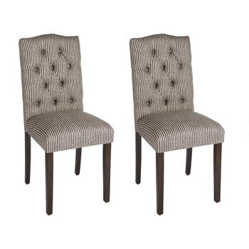 Doodle Tufted Upholstered Chairs, Set of 2
