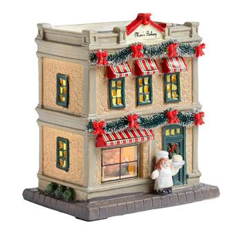 "6.75"" Mom's Bakery Miniature Lighted Home"