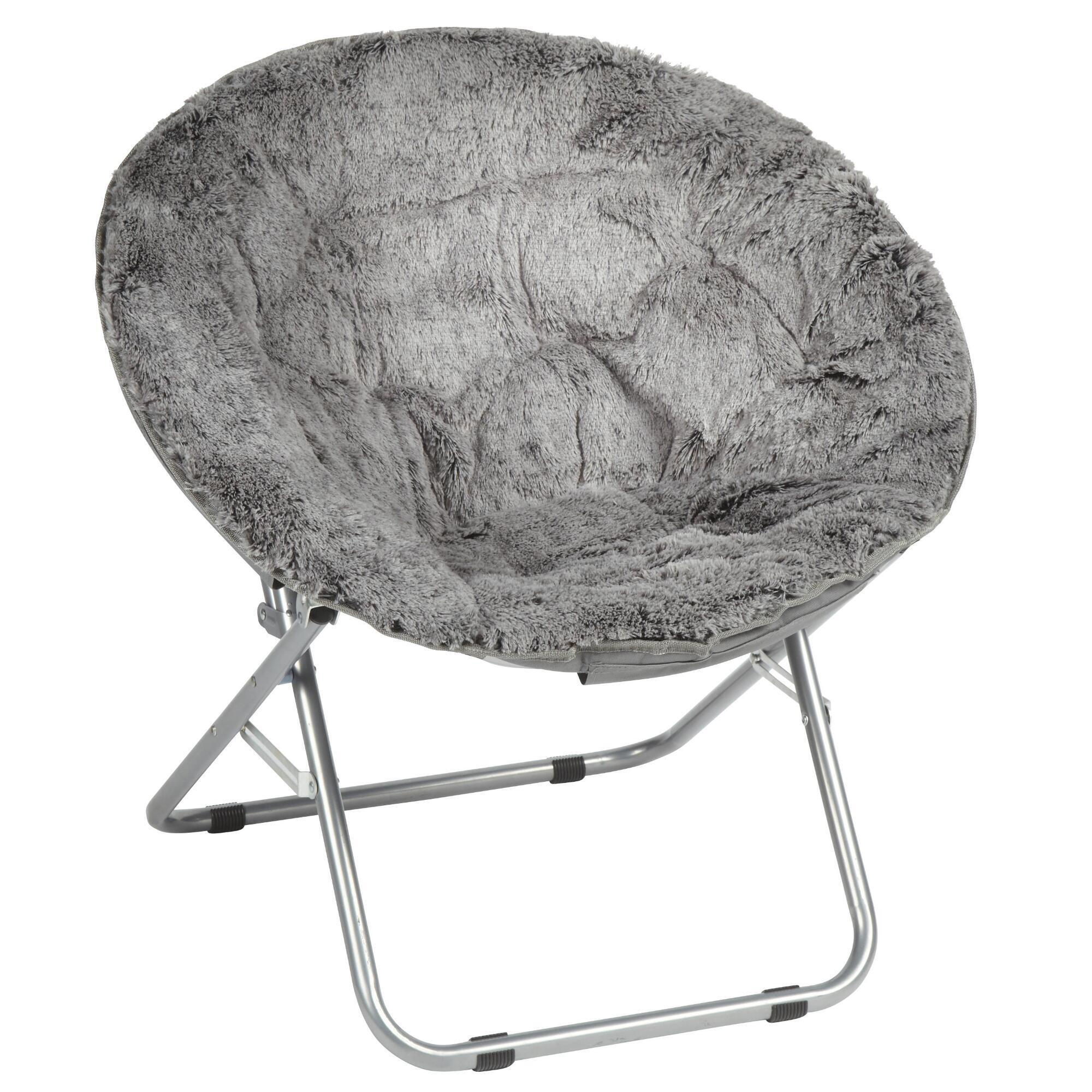 Gray Faux Fur Saucer Chair Christmas Tree Shops And That Home Decor Furniture Gifts Store