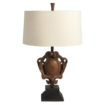 "34.5"" Rustic Emblem Table Lamp"