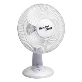 "12"" White Oscillating Desk Fan"