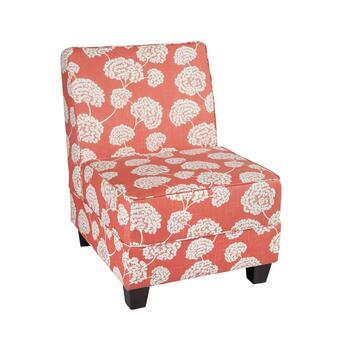 Milan Coral Toile Upholstered Accent Chair
