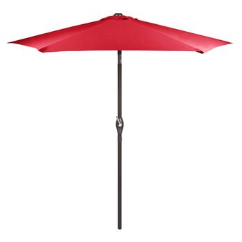 7.5' Red Crank/Tilt Market Patio Umbrella