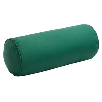 Solid Hunter Green Indoor/Outdoor Lumbar Roll Pillow