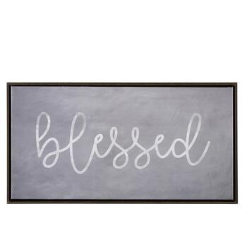 "25""x13"" ""Blessed"" Framed Wall Decor"