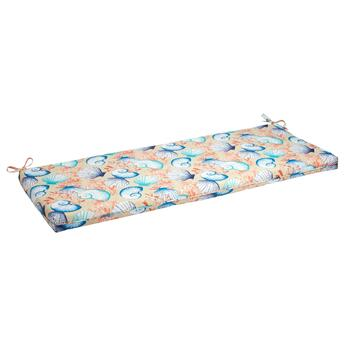 Seashells Indoor/Outdoor Bench Seat Pad