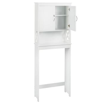 White X-Sided Space Saver Storage Cabinet