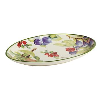 "15.75"" Fruit Oval Platter"