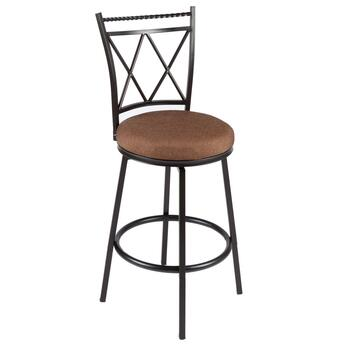 Bronze Crisscross Back Swivel Counter Stool