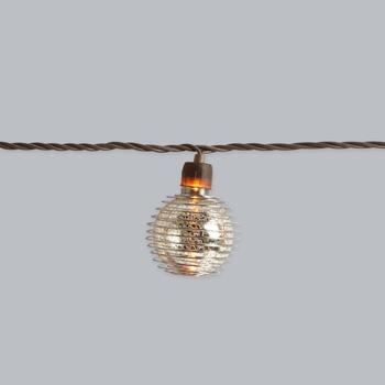 "8.5"" Spiral Crackle Glass String Lights view 2"