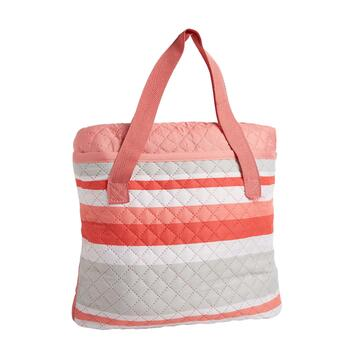 Oversized Striped Beach Blanket and Tote view 2