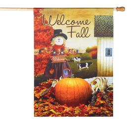"28""x40"" ""Welcome Fall"" Sueded Yard Flag"