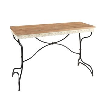 "30.5"" Metal/Wood Console Table"