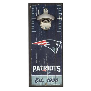"5""x12"" New England Patriots Beer Bottle Opener Wall Decor"