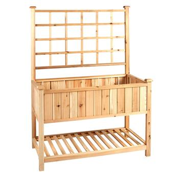 Cedar Wood Lattice-Back Grower's Table