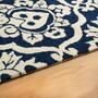 "22""x72"" Royal Damask Hooked All-Weather Runner Rug view 2"