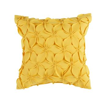 "Coastal Living Seascapes™ 18"" Yellow 3D Flowers Indoor/Outdoor Throw Pillow"