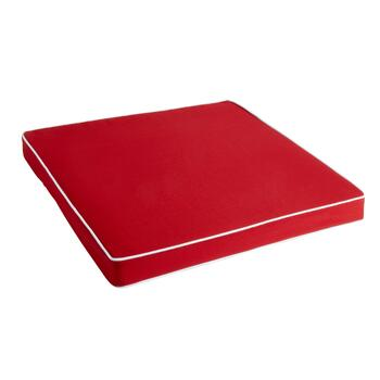 Waverly® Solid Red Indoor/Outdoor Deep Seat Pad