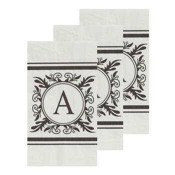 "3-Pack Monogram ""A"" Guest Towels, 45-Count"