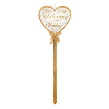 "37"" Wood ""Welcome to our Wedding"" Garden Stake"