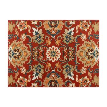 4'x6' Red Floral Print Area Rug