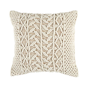 The Grainhouse™ Ivory Macramé Square Throw Pillow view 1