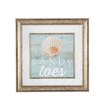 "18"" ""Sandy Toes"" Shell Wall Decor"