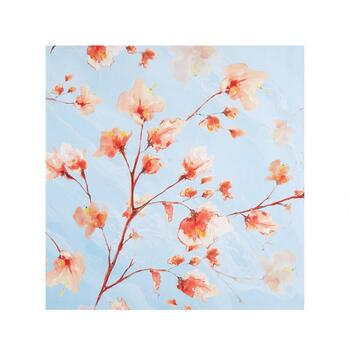 "30"" Red Flowers/Blue Sky Canvas Wall Art"