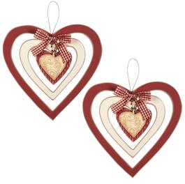 Hanging Heart Spinners, Set of 2