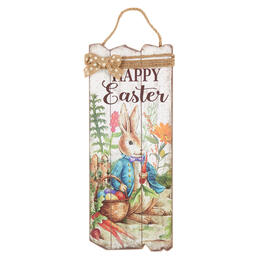 "9.5""x23.5"" ""Happy Easter"" Slatted Wood Wall Decor view 1"