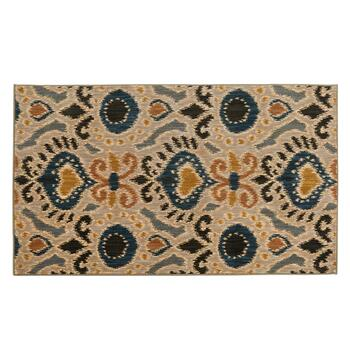 3'x5' Mohawk Home Blue/Beige Ogee Wool Accent Rug
